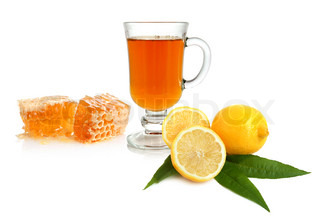 Tea, lemon and honey
