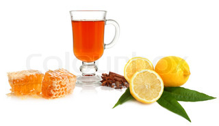Tea, spice, lemon and honey