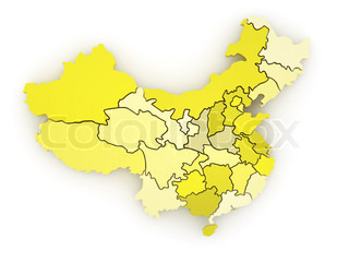 Three-dimensional map of China 3d