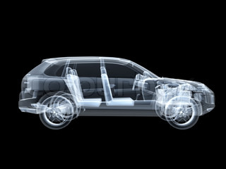 X-ray photography of the car