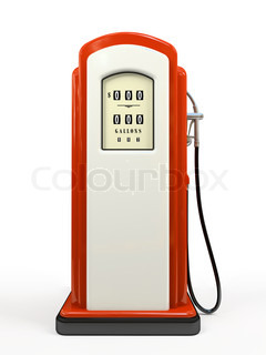 Gasoline pump isolated on white background