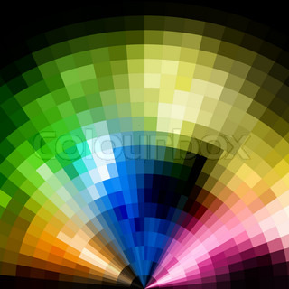 Abstract radial colorful vivid mosaic background.
