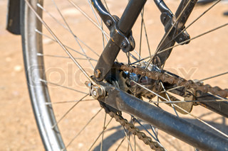 Wheel from bicycle with its speen chain