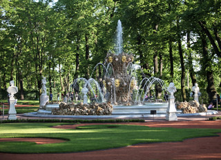 Fountain in the summer garden of St. Petersburg