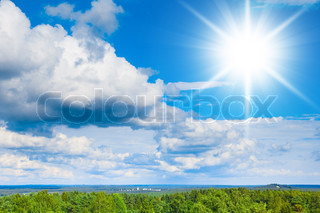 Summer sun heaven wallpaper stock photo colourbox - Impressive house with tranquil environment to get total relaxation ...