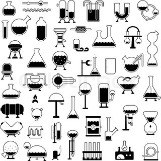 big set of cartoon mechanisms silhouettes for use in design, etc