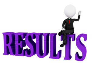 Results Concept Results word on white background
