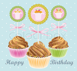 Vector of 'Cake, Decorate, Fairy'