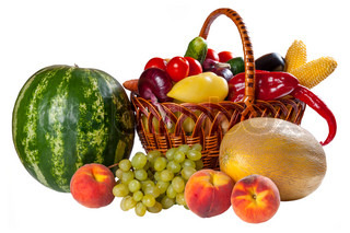 Different fresh vegetables and fruit