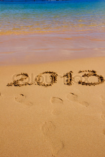 new 2013 year on the beach