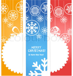 Set of vertical christmas vector banners Ready for a text