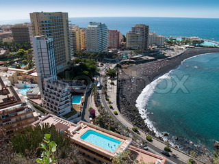 Beaches of Puerto de la Cruz, Tenerife, Spain