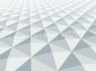 Abstract architecture background White square pyramidal cellular surface