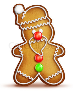 Cartoon Gingerbread Santa Cookie