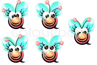 Cartoon Girl Bee with Nose
