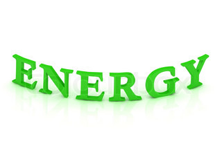 ENERGY sign with green word
