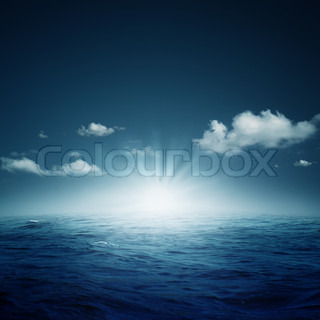 Nightly ocean Abstract natural backgrounds