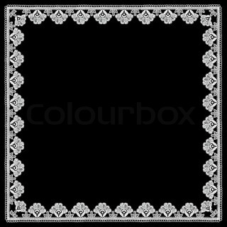 floral pattern lace with white flowers
