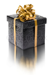 Stylish black present box