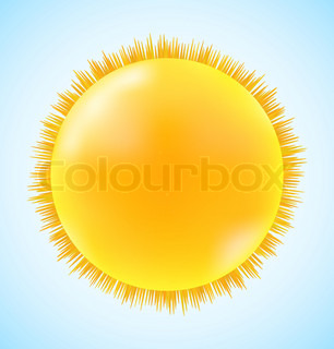 Abstract sun icon on blue sky