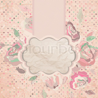 Retro flower background EPS 8