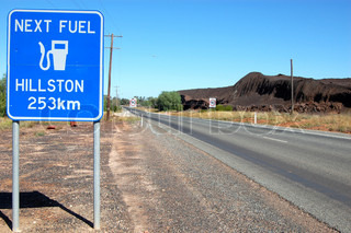 Road sign in outback Australia