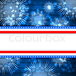 Colour fireworks and the sky and white blank background