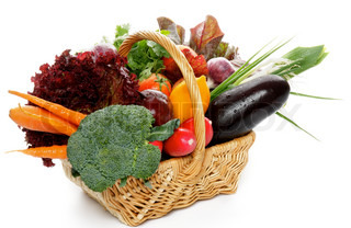 Raw Vegetable Basket