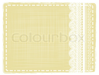 abstract vintage border with lace frame