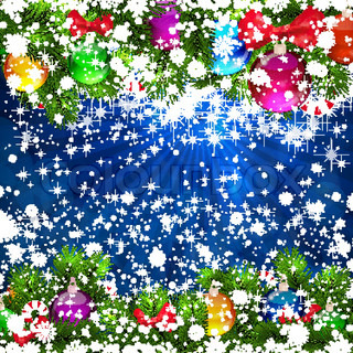 Christmas Background with bright Christmas tree balls Eps10