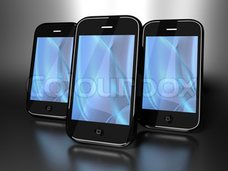 Mobility devices - blue wave background