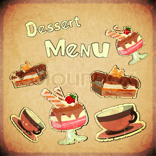 Vintage Cover Cafe or confectionerydessertMenu