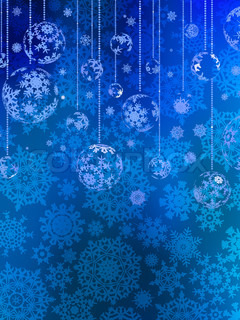 abstraction blue christmas background eps 8