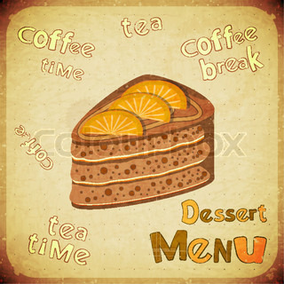 Vintage Cafe or confectionery dessertMenu