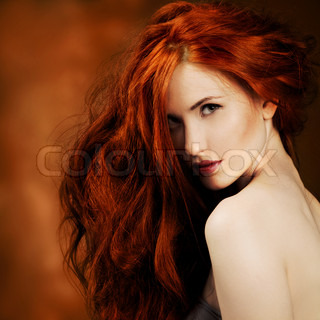 Red Hair Fashion Girl Portrait