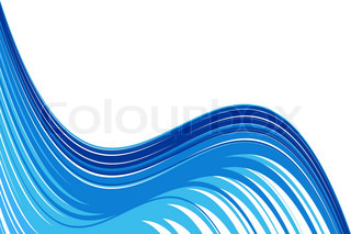 Abstract water wave background with white copy space. No gradients and effects.
