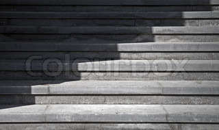 Seven footstep with shadow walking across
