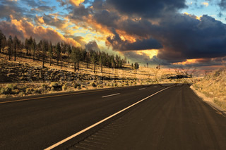 The world's best American road to sunset