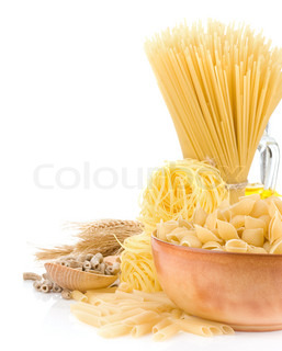 pasta and wooden plate i