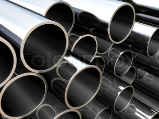 Metal pipe - industrial background