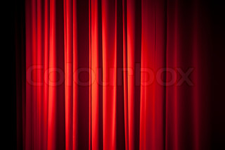 Red theatrical curtain background texture