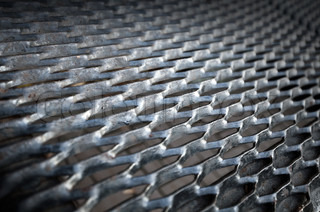 Background texture of old metal ground grid