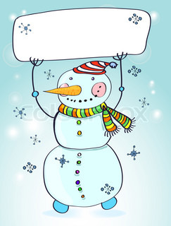 Funny snowman Christmas card for your design