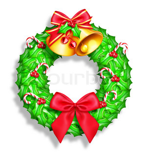 Whimsical Cartoon Christmas Wreath