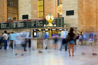 People moving in Grand Central Terminal, New York, USA