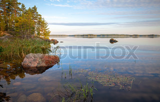 Coast of saimaa lake in finland stock photo colourbox - Impressive house with tranquil environment to get total relaxation ...