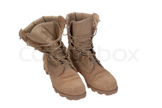 old used desert boots iraq war period isolated