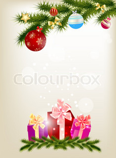 Abstract beauty Christmas and New Year background Raster version