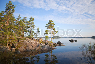 Coastal landscape saimaa lake karelia finland stock photo colourbox - Impressive house with tranquil environment to get total relaxation ...