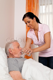 nurse in elderly care for the elderly in nursing homes